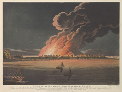 A View of Bombay from Malabar Point during the Fire of 1803